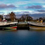 Bateaux face à face, Honfleur Normandie
