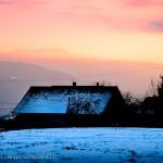 Maison à Mercury, Albertville, coucher de soleil