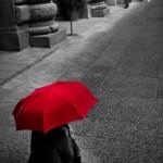 Parapluie rouge, Florence