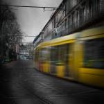 Tram en mouvement, Mulhouse