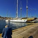 Vieux Port, vieil homme assis, Marseille