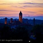 La cathédrale San Lorenzo, Albe , Italie